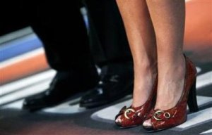 The ruby slippers as worn by Gov. Palin.