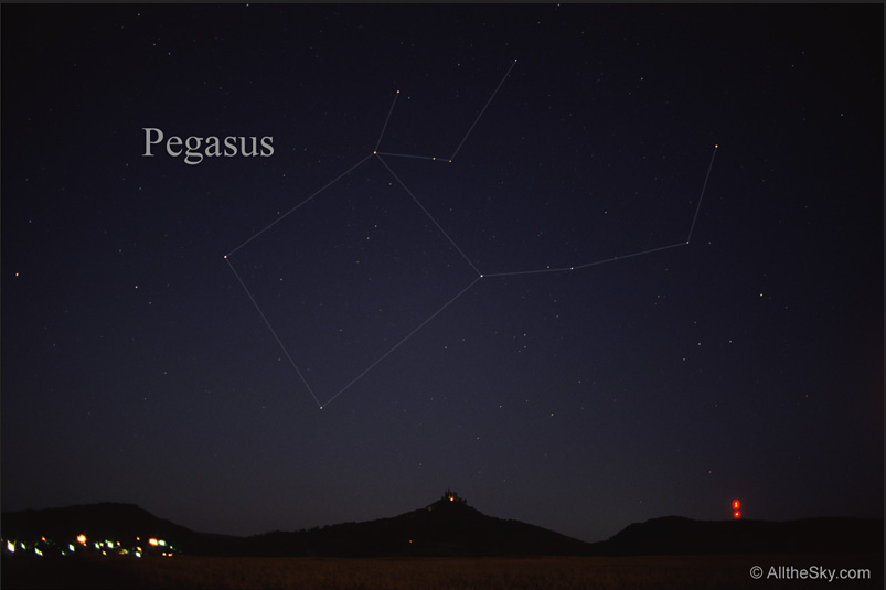 Pegasys constellation. In the sky.
