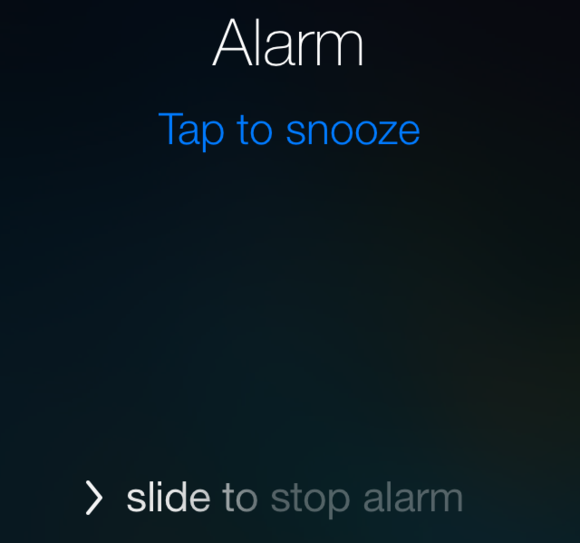 Tap Alarm to snooze