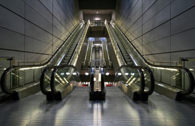 huge and very impressive escalator in Copenhagen.