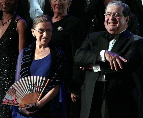 Night at the opera, Ginsberg and Scalia