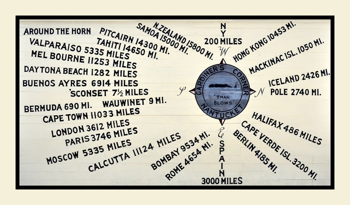 Nantucket, the center of the world. A compass and mileage directory.
