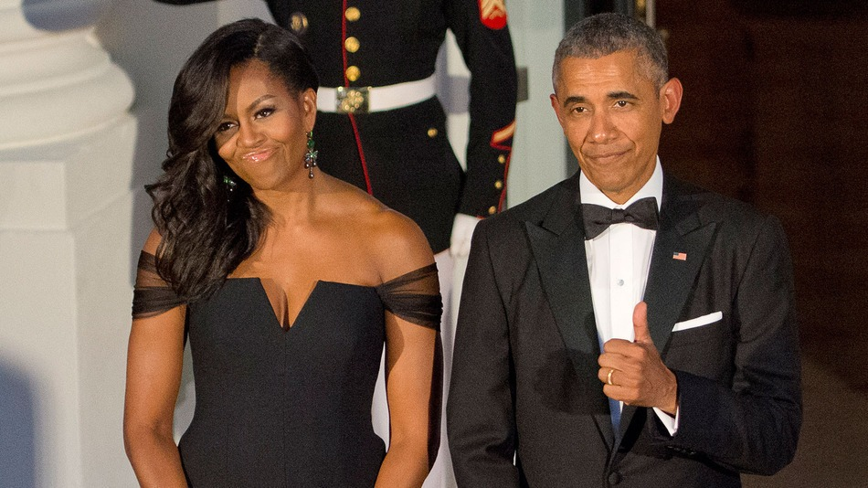 FLOTUS and POTUS looking fly.