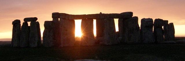 Stonehenge at vernal equinox.