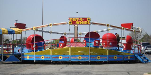 Crazy spinning tilt-a-whirl