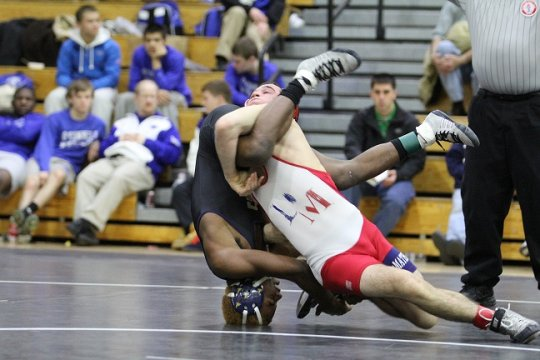 WCAC wrestling match. Fierce!