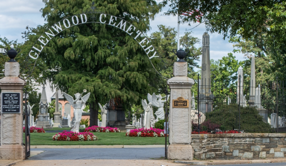 Entrance to Glenwood Cemetery in D.C.