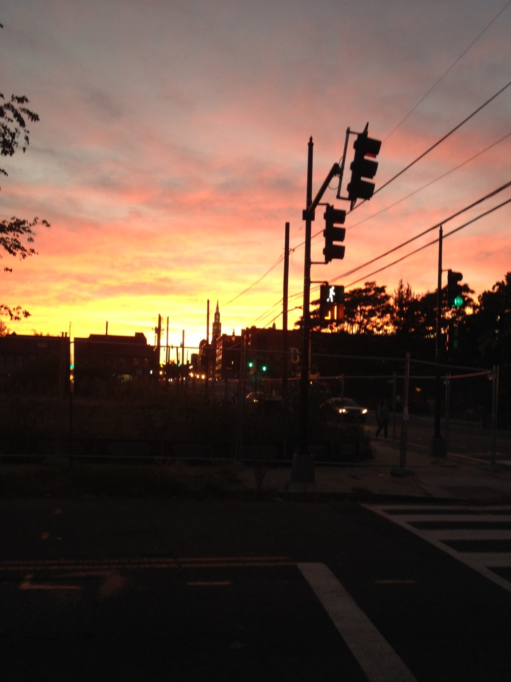 Sunset in Brookland. At the intersection between work and home.