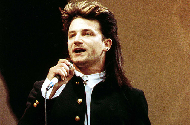 Wow. Just wow, bono with your mullet. And that frock coat.