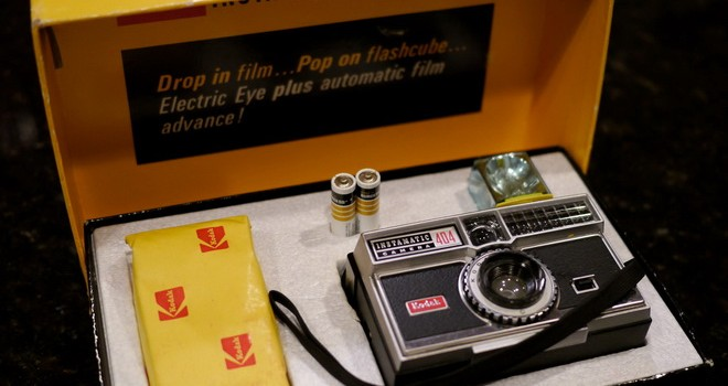 an old Kodak camera kit with magic cube!