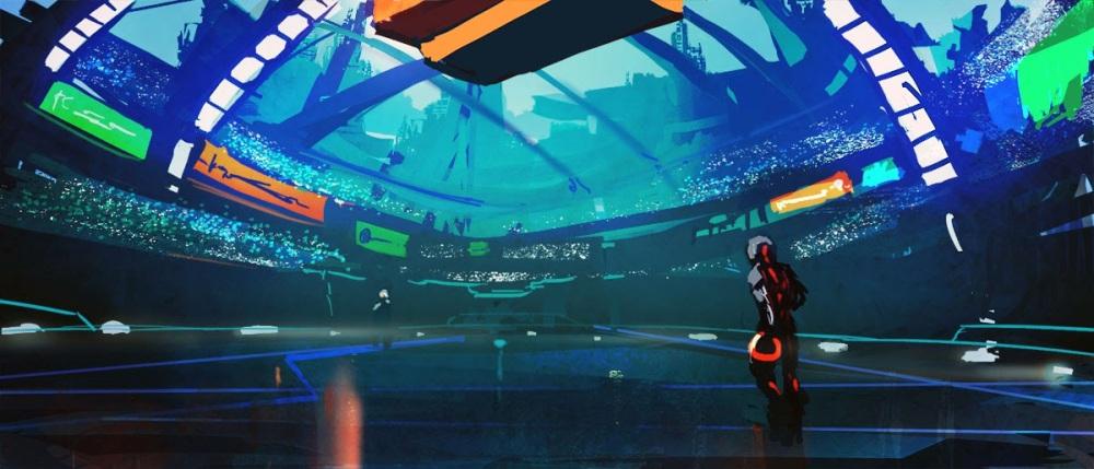 a futuristic arena