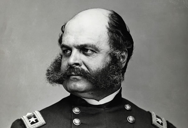 General Ambrose Burnside. Better remembered for his facial hair than being a general. Not remembered for a mullet.