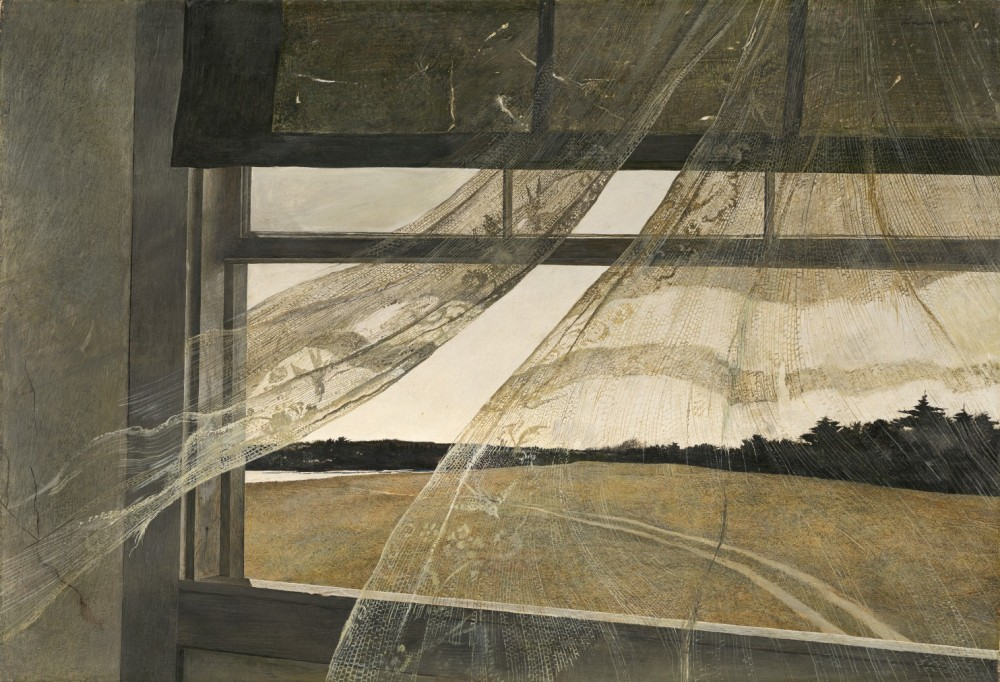 An image of the Andrew Wyeth painting, The Wind from the Sea.