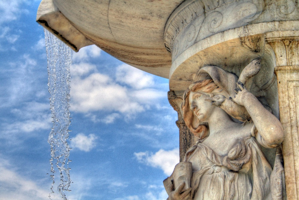 Detail from the fountain at Dupont Circle. It's beautiful when you see it up close.
