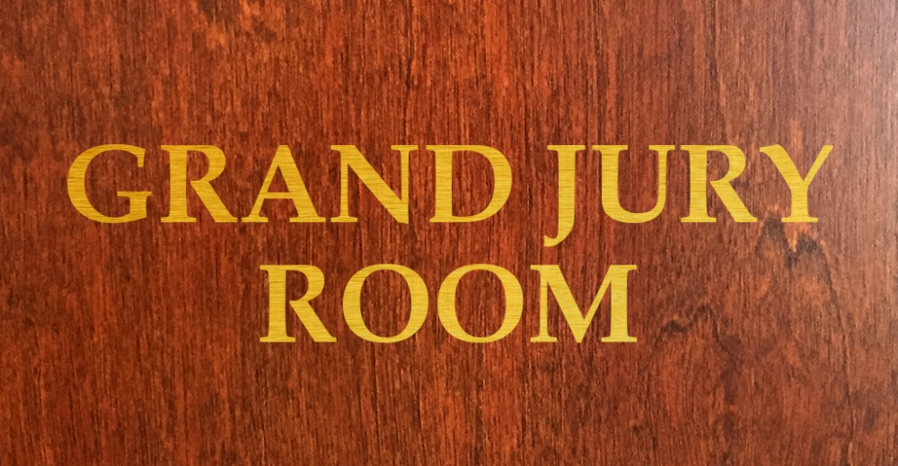 Sign for Grand Jury Room.