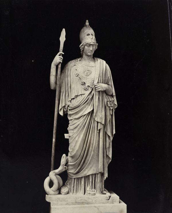 Help us Athena, you're our only hope. More details The Athena Giustiniani, a Roman copy of a Greek statue of Pallas Athena (Vatican Museums)