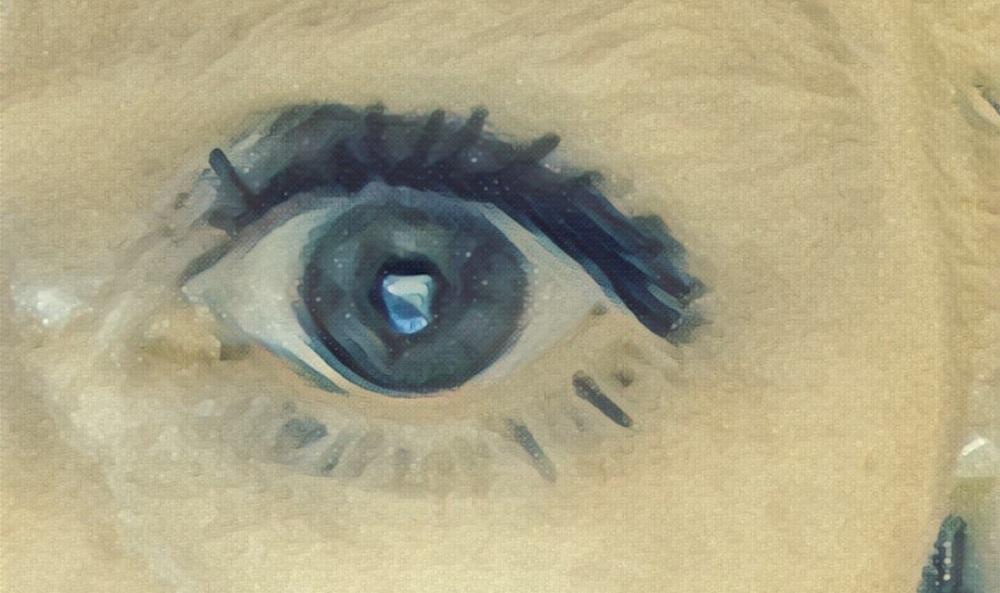 an eye. staring at you.