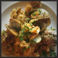 basque inspired clams and rice