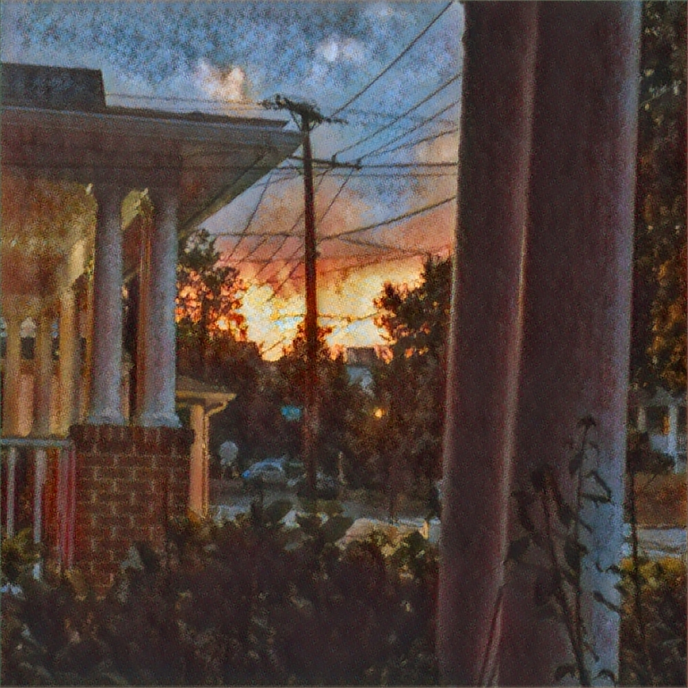 Sunset from the porch.