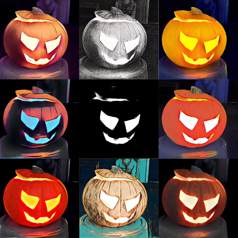 Filters of the Doc's 2016 pumpkin.