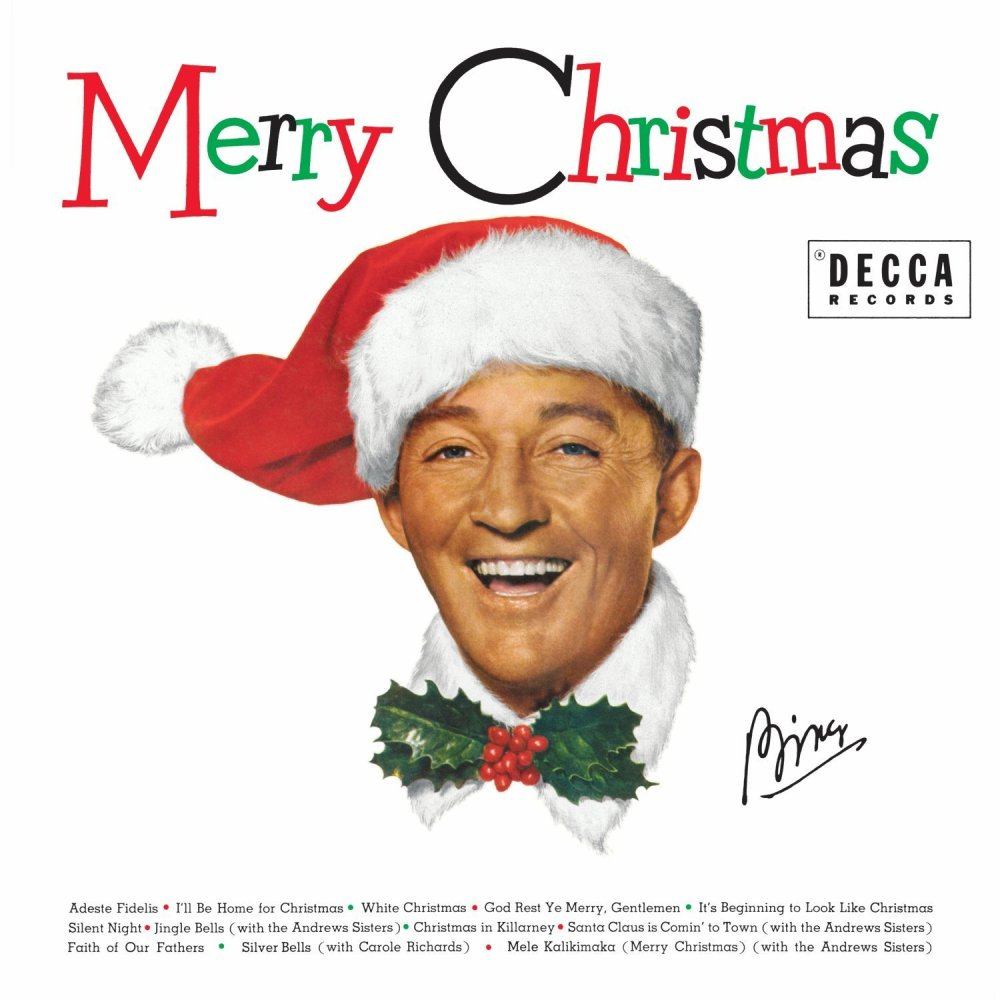 Bing Crosby's Merry Christmas album cover.