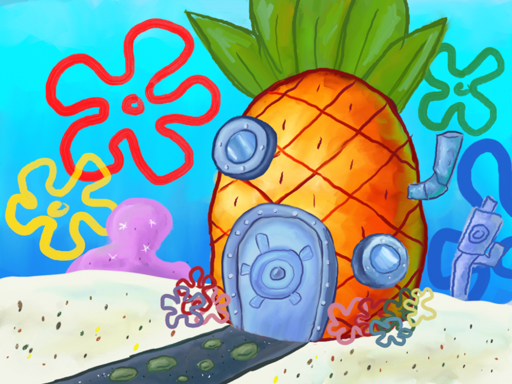This is SpongeBob Squarepants' house in Bikini Bottom. I wouldn't really want to live here.