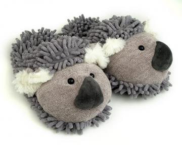 weird little slippers with animal faces on the top.