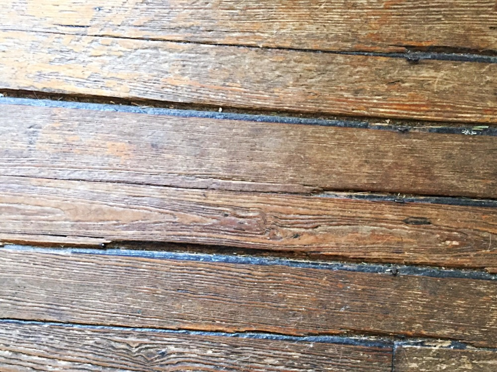 Some very, very, very well-worn floorboards.